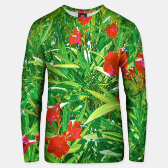 Miniatur Flowers and Green Plants at Outdoor Garden Unisex sweater, Live Heroes