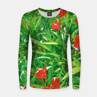 Miniatur Flowers and Green Plants at Outdoor Garden Women sweater, Live Heroes