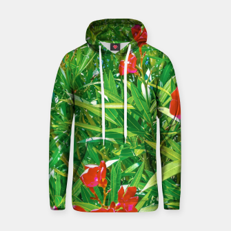Miniatur Flowers and Green Plants at Outdoor Garden Hoodie, Live Heroes