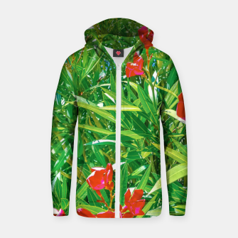 Miniatur Flowers and Green Plants at Outdoor Garden Zip up hoodie, Live Heroes