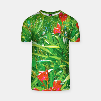 Miniatur Flowers and Green Plants at Outdoor Garden T-shirt, Live Heroes