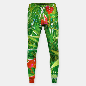 Miniatur Flowers and Green Plants at Outdoor Garden Sweatpants, Live Heroes