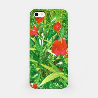 Miniatur Flowers and Green Plants at Outdoor Garden iPhone Case, Live Heroes