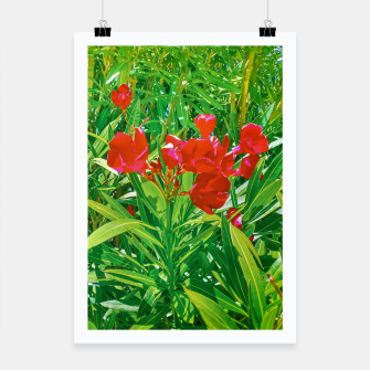 Miniatur Flowers and Green Plants at Outdoor Garden Poster, Live Heroes