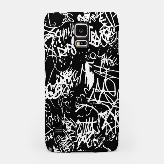 Miniaturka Black and White Graffiti Abstract Collage Print Pattern Samsung Case, Live Heroes