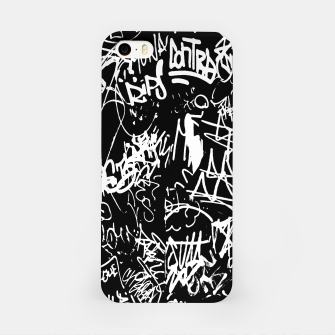 Miniaturka Black and White Graffiti Abstract Collage Print Pattern iPhone Case, Live Heroes