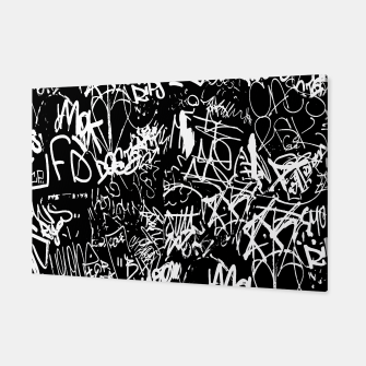 Miniaturka Black and White Graffiti Abstract Collage Print Pattern Canvas, Live Heroes