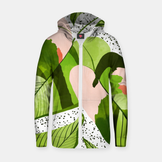 Thumbnail image of Blushing Leaves Zip up hoodie, Live Heroes