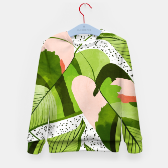 Thumbnail image of Blushing Leaves Kid's sweater, Live Heroes