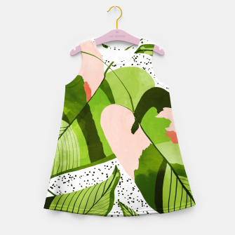 Miniaturka Blushing Leaves Girl's summer dress, Live Heroes