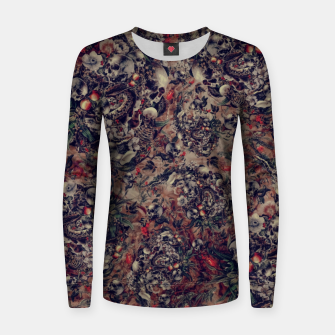 Thumbnail image of Skull Storm III Women sweater, Live Heroes