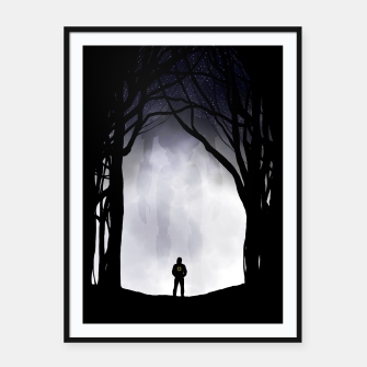 Thumbnail image of Dark Night Framed poster, Live Heroes