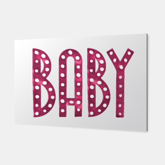 Miniatur Neon Style Baby Graphic Text Canvas, Live Heroes