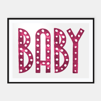 Miniature de image de Neon Style Baby Graphic Text Framed poster, Live Heroes