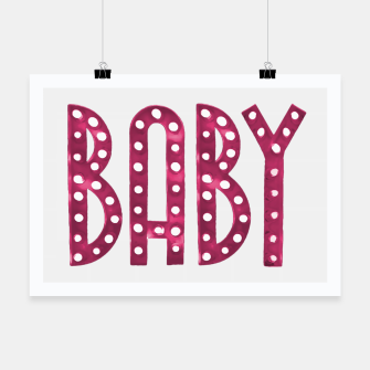 Thumbnail image of Neon Style Baby Graphic Text Poster, Live Heroes