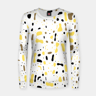 Miniatur Coffee spots, simple abstract illustration in delicate colors Women sweater, Live Heroes