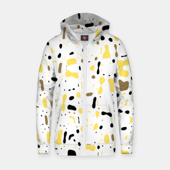 Miniature de image de Coffee spots, simple abstract illustration in delicate colors Zip up hoodie, Live Heroes