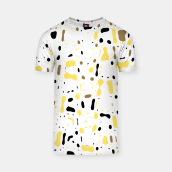 Miniatur Coffee spots, simple abstract illustration in delicate colors T-shirt, Live Heroes