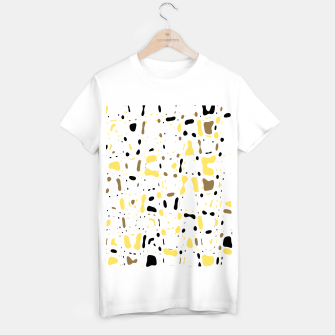 Miniatur Coffee spots, simple abstract illustration in delicate colors T-shirt regular, Live Heroes