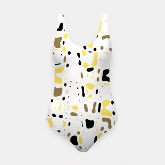 Miniatur Coffee spots, simple abstract illustration in delicate colors Swimsuit, Live Heroes