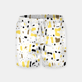 Miniatur Coffee spots, simple abstract illustration in delicate colors Swim Shorts, Live Heroes