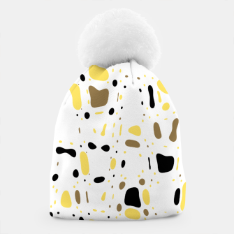 Miniatur Coffee spots, simple abstract illustration in delicate colors Beanie, Live Heroes