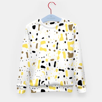 Miniatur Coffee spots, simple abstract illustration in delicate colors Kid's sweater, Live Heroes