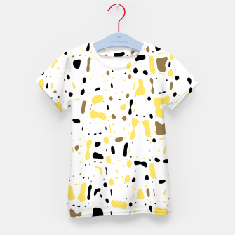 Miniatur Coffee spots, simple abstract illustration in delicate colors Kid's t-shirt, Live Heroes