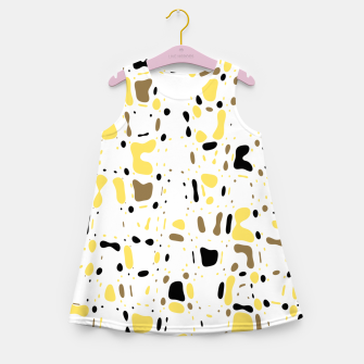 Miniatur Coffee spots, simple abstract illustration in delicate colors Girl's summer dress, Live Heroes