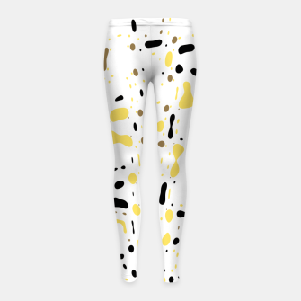 Miniatur Coffee spots, simple abstract illustration in delicate colors Girl's leggings, Live Heroes