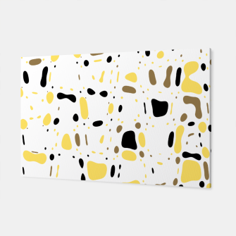 Miniatur Coffee spots, simple abstract illustration in delicate colors Canvas, Live Heroes