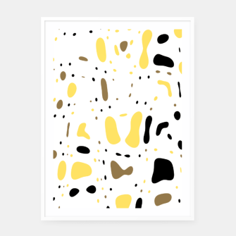 Miniatur Coffee spots, simple abstract illustration in delicate colors Framed poster, Live Heroes