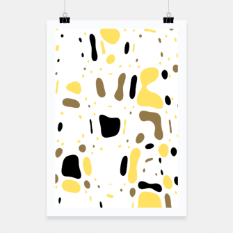 Miniatur Coffee spots, simple abstract illustration in delicate colors Poster, Live Heroes