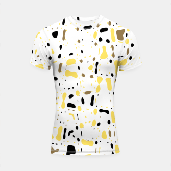 Miniatur Coffee spots, simple abstract illustration in delicate colors Shortsleeve rashguard, Live Heroes
