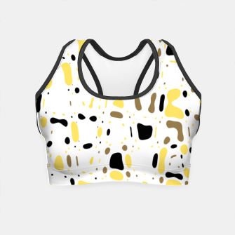 Miniatur Coffee spots, simple abstract illustration in delicate colors Crop Top, Live Heroes