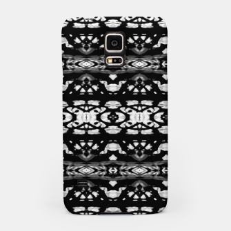 Miniatur Black and White Modern Ornate Stripes Design Samsung Case, Live Heroes