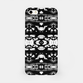 Miniatur Black and White Modern Ornate Stripes Design iPhone Case, Live Heroes