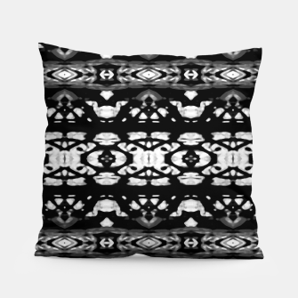 Miniatur Black and White Modern Ornate Stripes Design Pillow, Live Heroes