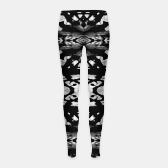 Miniatur Black and White Modern Ornate Stripes Design Girl's leggings, Live Heroes