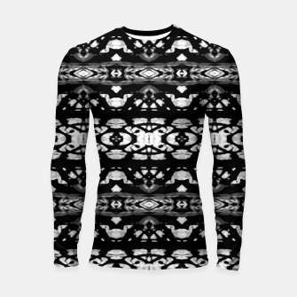 Miniatur Black and White Modern Ornate Stripes Design Longsleeve rashguard , Live Heroes