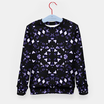 Thumbnail image of Dark Violet Ornament Pattern Design Kid's sweater, Live Heroes
