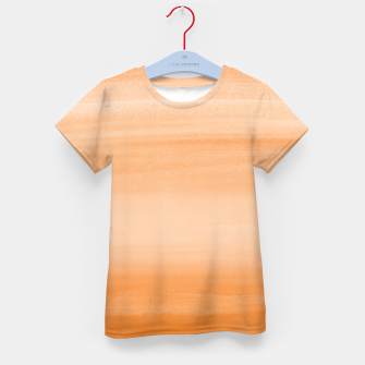 Miniatur Touching Orange Watercolor Abstract #2 #painting #decor #art  T-Shirt für kinder, Live Heroes