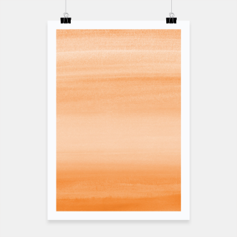 Miniatur Touching Orange Watercolor Abstract #2 #painting #decor #art  Plakat, Live Heroes
