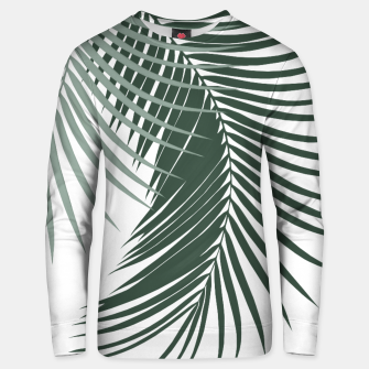 Thumbnail image of Palm Leaves Soft & Dark Green Vibes #1 #tropical #decor #art  Unisex sweatshirt, Live Heroes