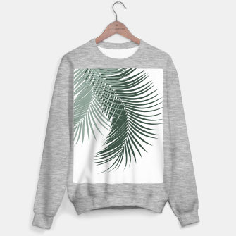 Thumbnail image of Palm Leaves Soft & Dark Green Vibes #1 #tropical #decor #art  Sweatshirt regulär, Live Heroes