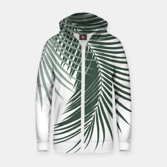 Thumbnail image of Palm Leaves Soft & Dark Green Vibes #1 #tropical #decor #art  Reißverschluss kapuzenpullover, Live Heroes