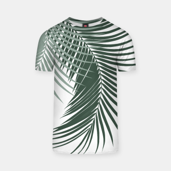 Thumbnail image of Palm Leaves Soft & Dark Green Vibes #1 #tropical #decor #art  T-Shirt, Live Heroes
