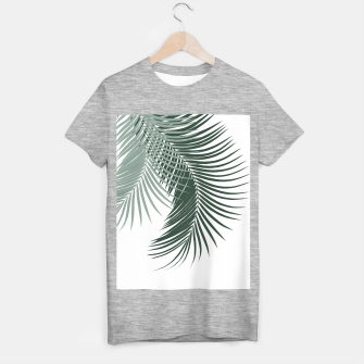 Thumbnail image of Palm Leaves Soft & Dark Green Vibes #1 #tropical #decor #art  T-Shirt regulär, Live Heroes