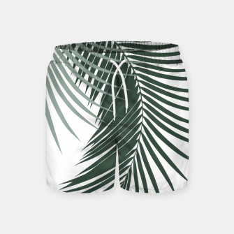 Miniaturka Palm Leaves Soft & Dark Green Vibes #1 #tropical #decor #art  Badeshorts, Live Heroes