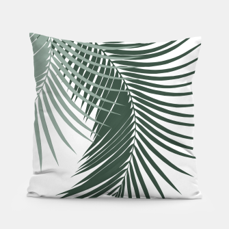 Miniaturka Palm Leaves Soft & Dark Green Vibes #1 #tropical #decor #art  Kissen, Live Heroes